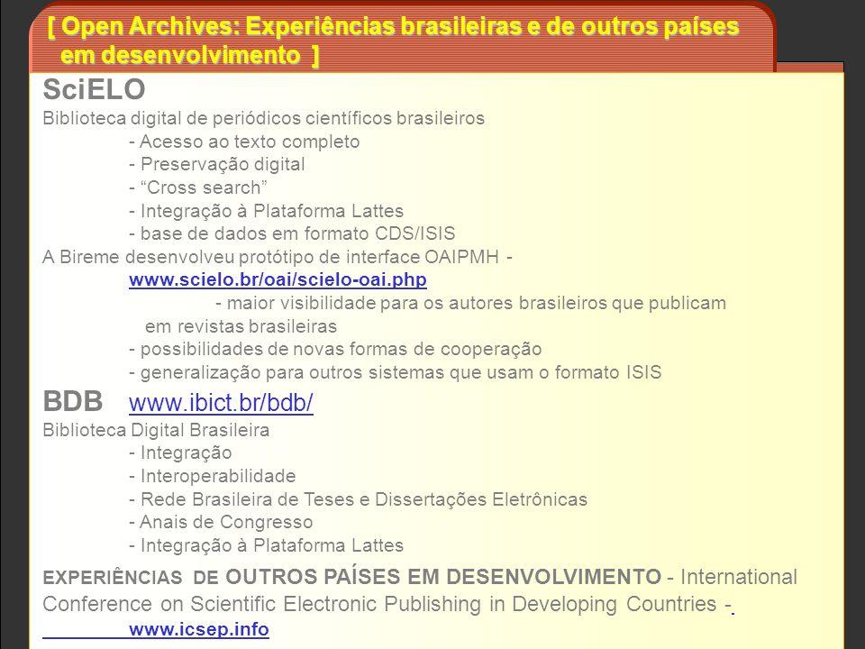 SciELO Biblioteca digital de periódicos científicos brasileiros