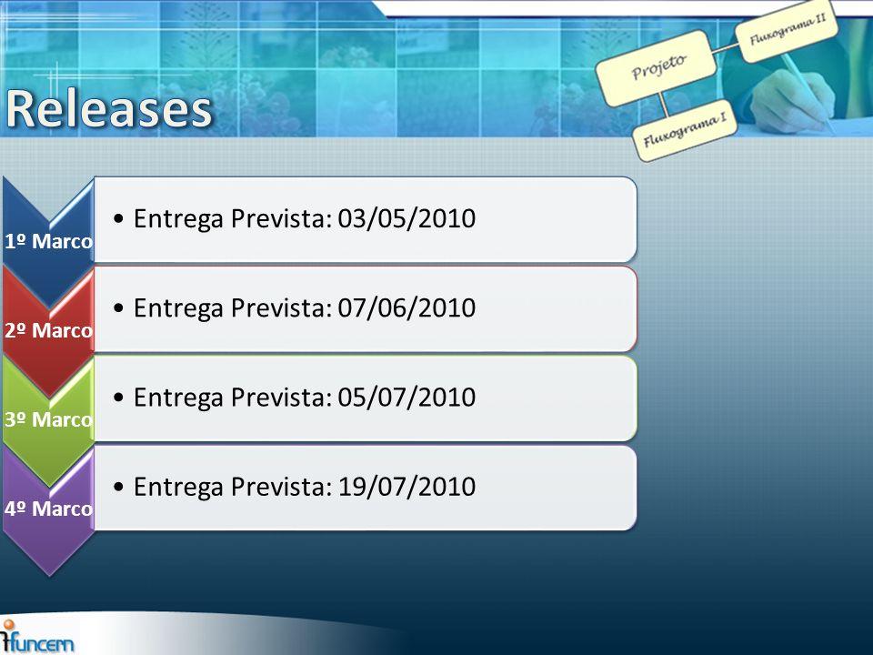 Releases Entrega Prevista: 03/05/2010 Entrega Prevista: 07/06/2010