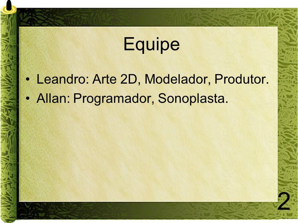 Equipe Leandro: Arte 2D, Modelador, Produtor.
