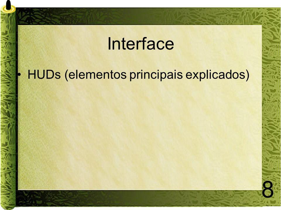 Interface HUDs (elementos principais explicados)
