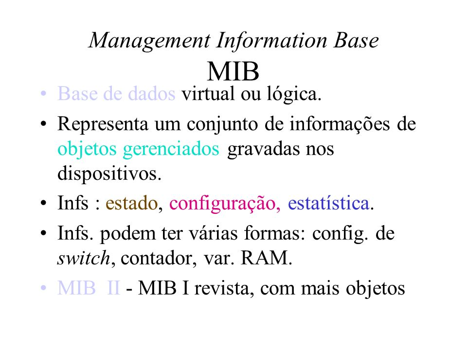 Management Information Base MIB