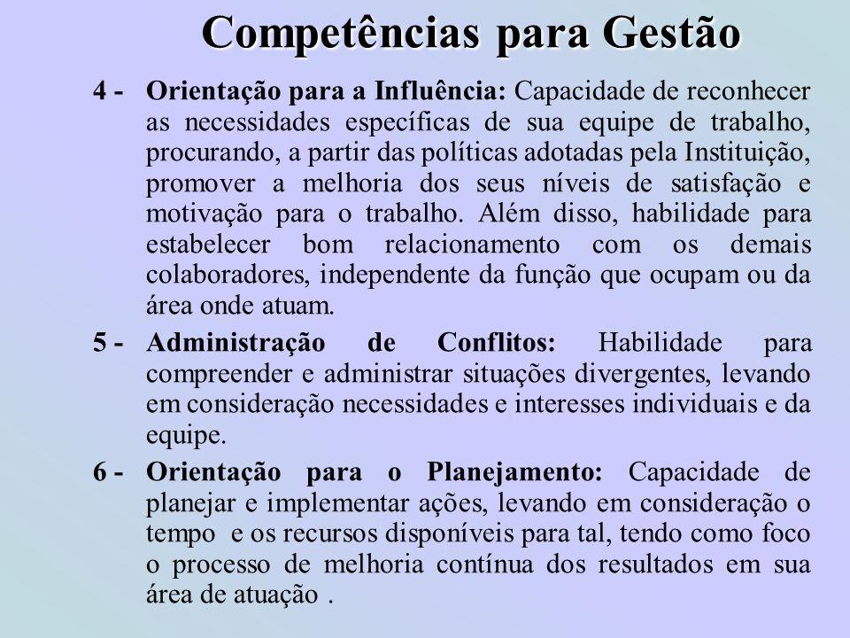 Competências para Gestão