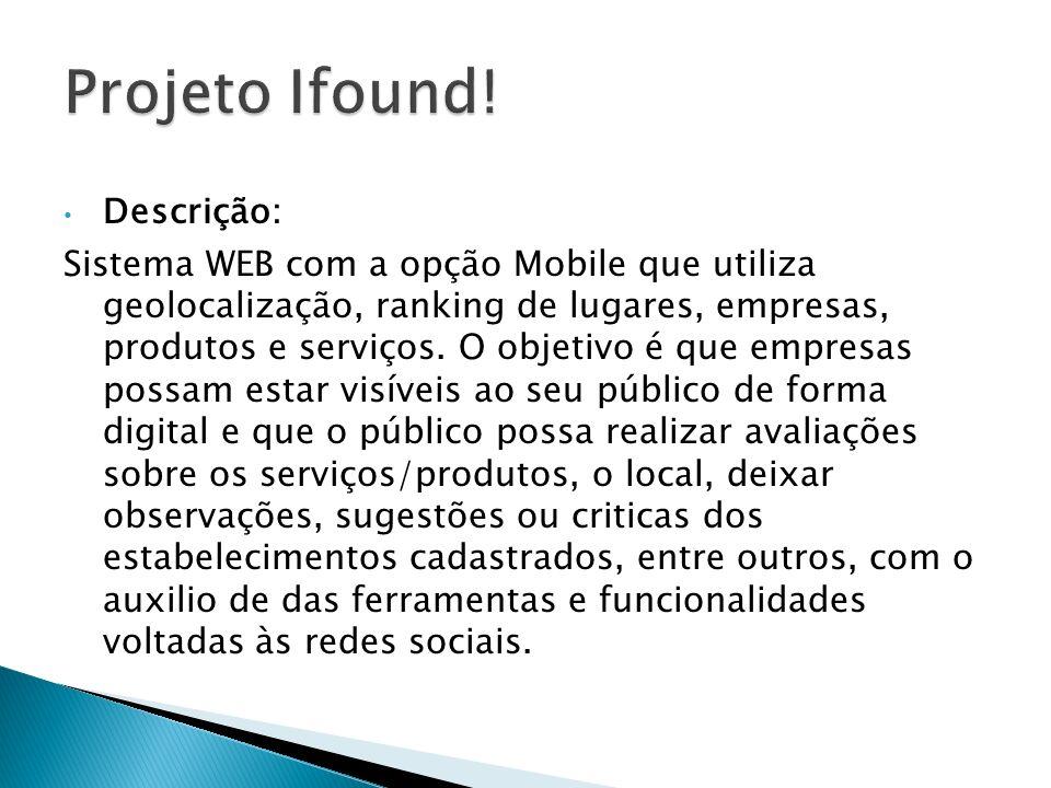 Projeto Ifound! Descrição: