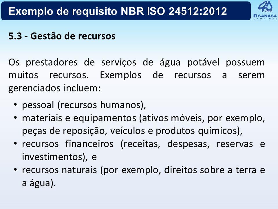 Exemplo de requisito NBR ISO 24512:2012