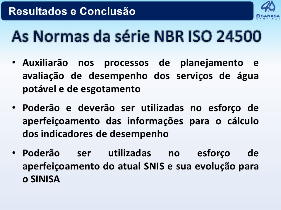 As Normas da série NBR ISO 24500