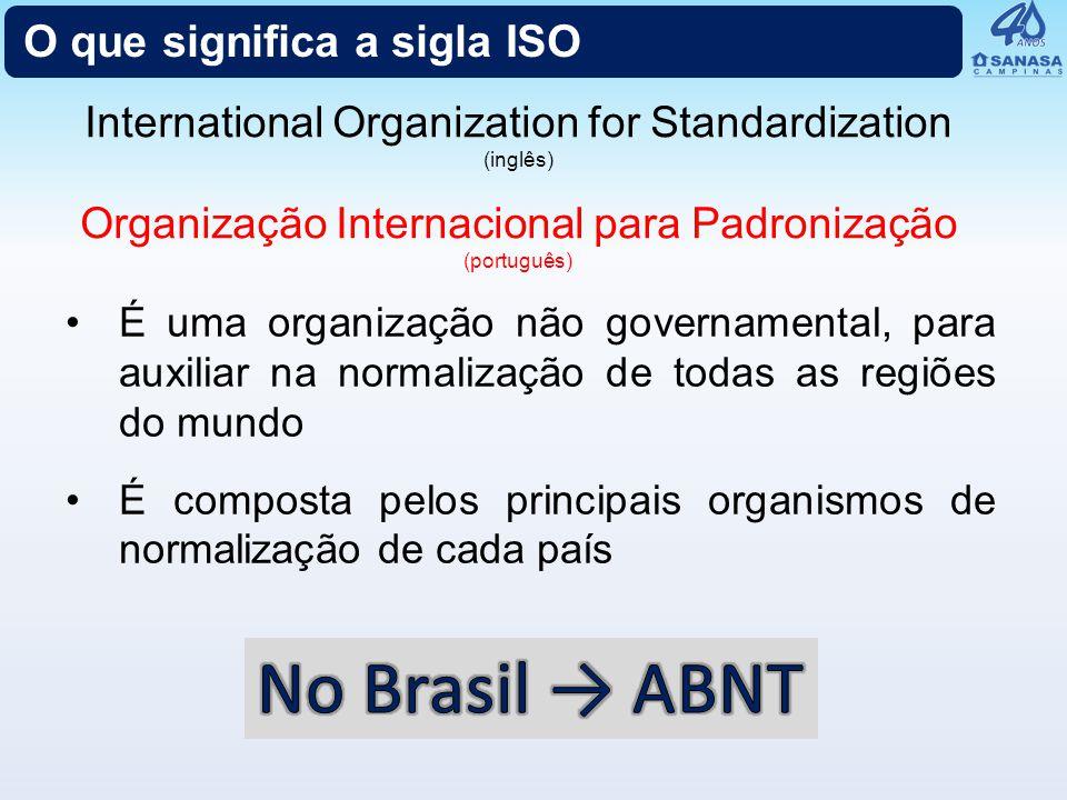 No Brasil → ABNT O que significa a sigla ISO