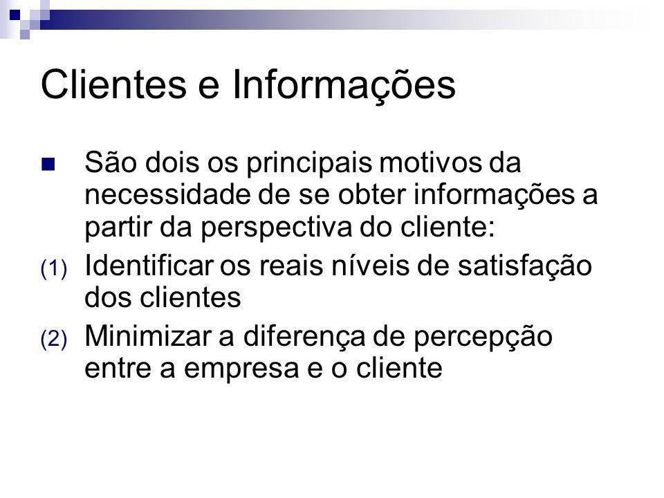 Clientes e Informações