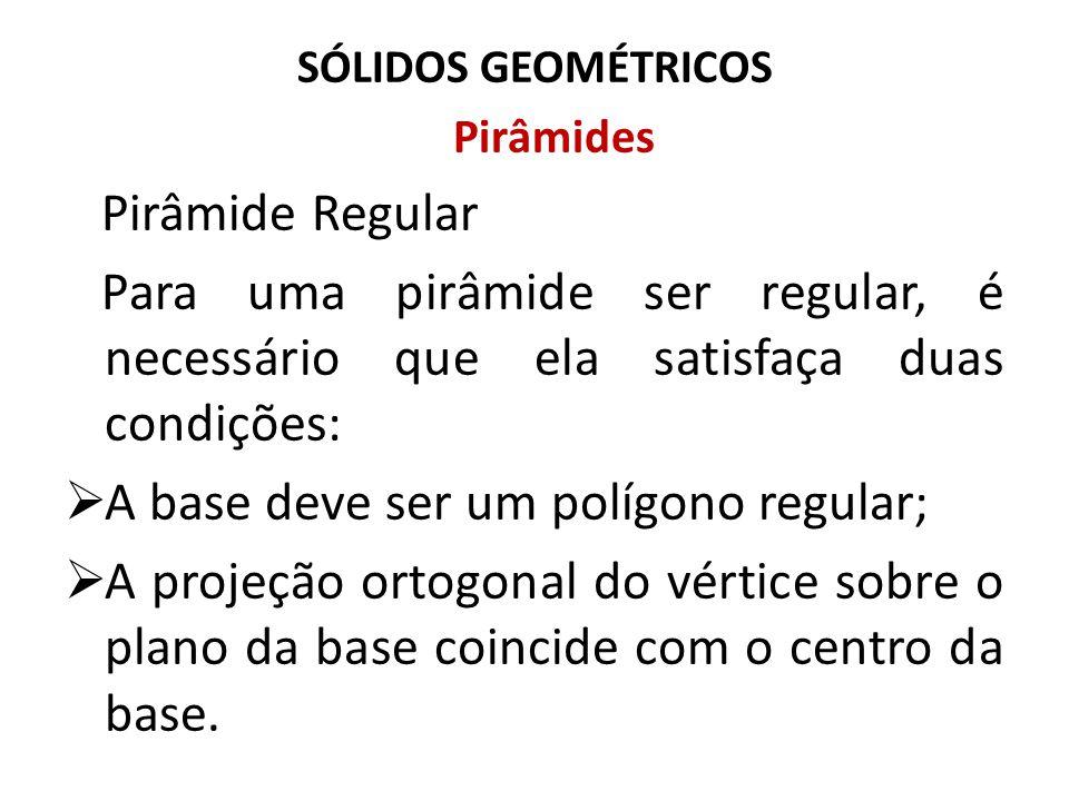 A base deve ser um polígono regular;