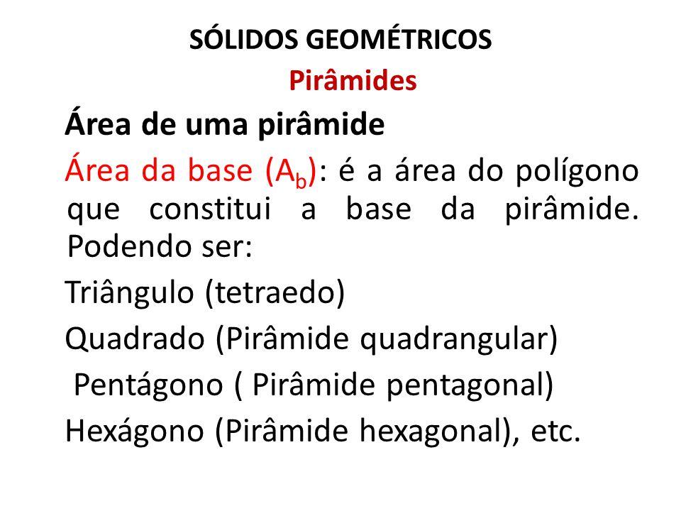 Quadrado (Pirâmide quadrangular) Pentágono ( Pirâmide pentagonal)