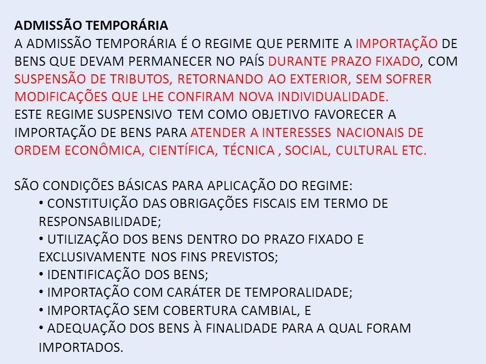 ADMISSÃO TEMPORÁRIA