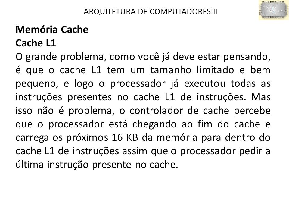 ARQUITETURA DE COMPUTADORES II