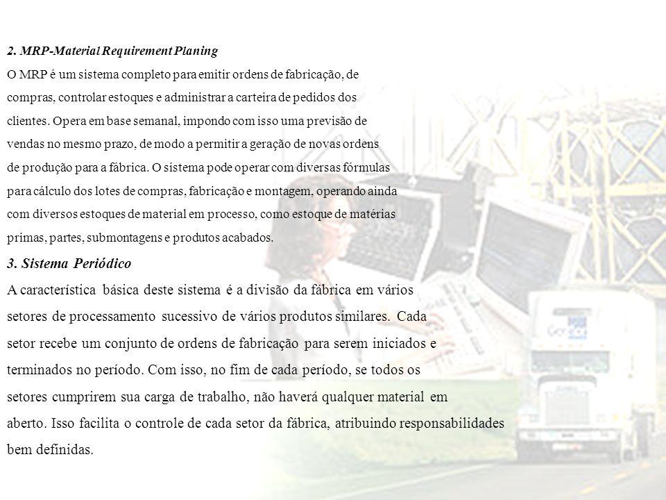 A característica básica deste sistema é a divisão da fábrica em vários