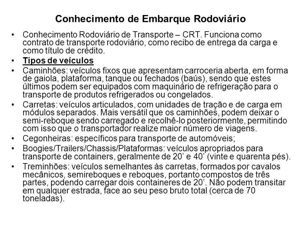 Conhecimento de Embarque Rodoviário