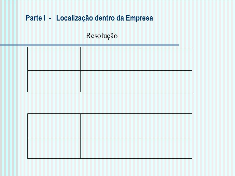 Parte I - Localização dentro da Empresa