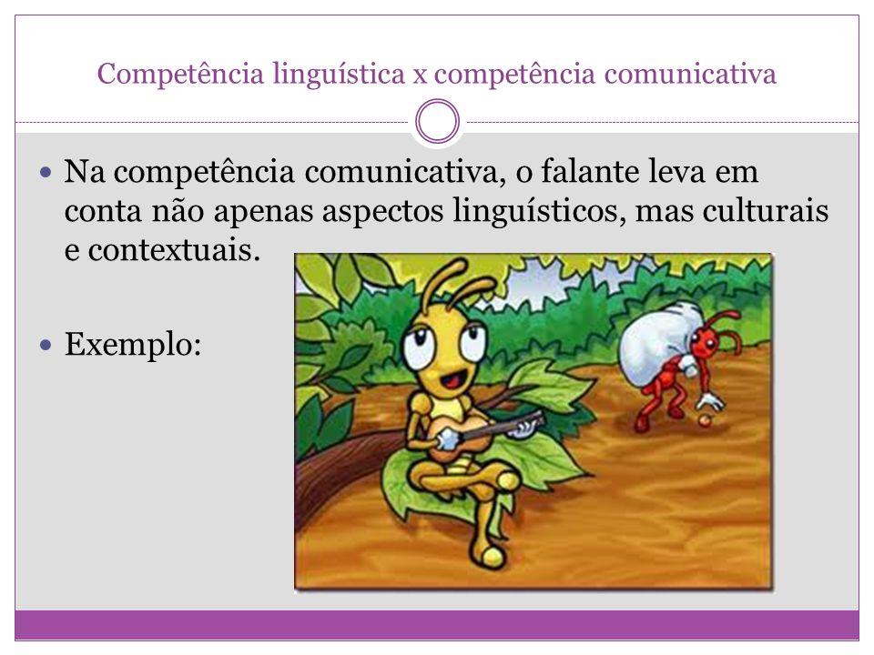 Competência linguística x competência comunicativa