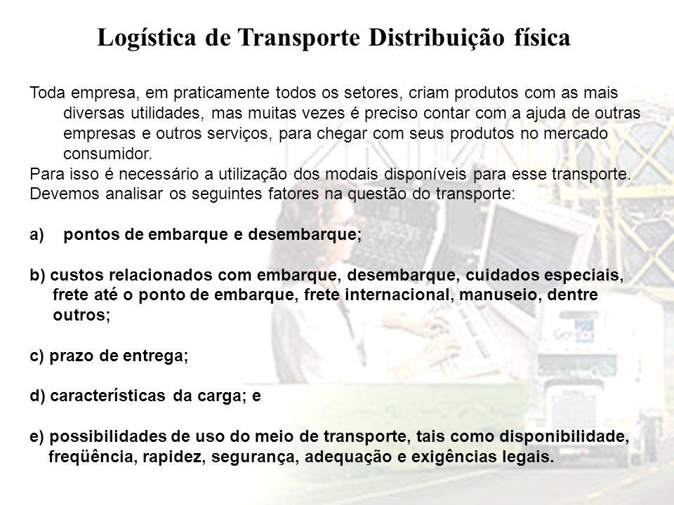Logística de Transporte Distribuição física
