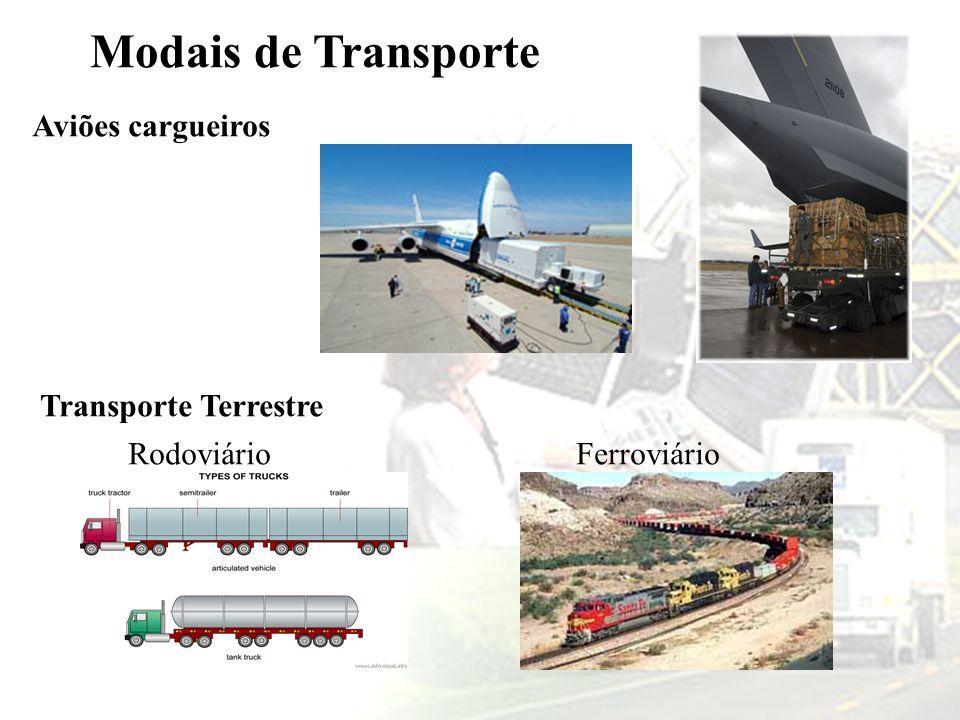 Modais de Transporte Aviões cargueiros Transporte Terrestre Rodoviário