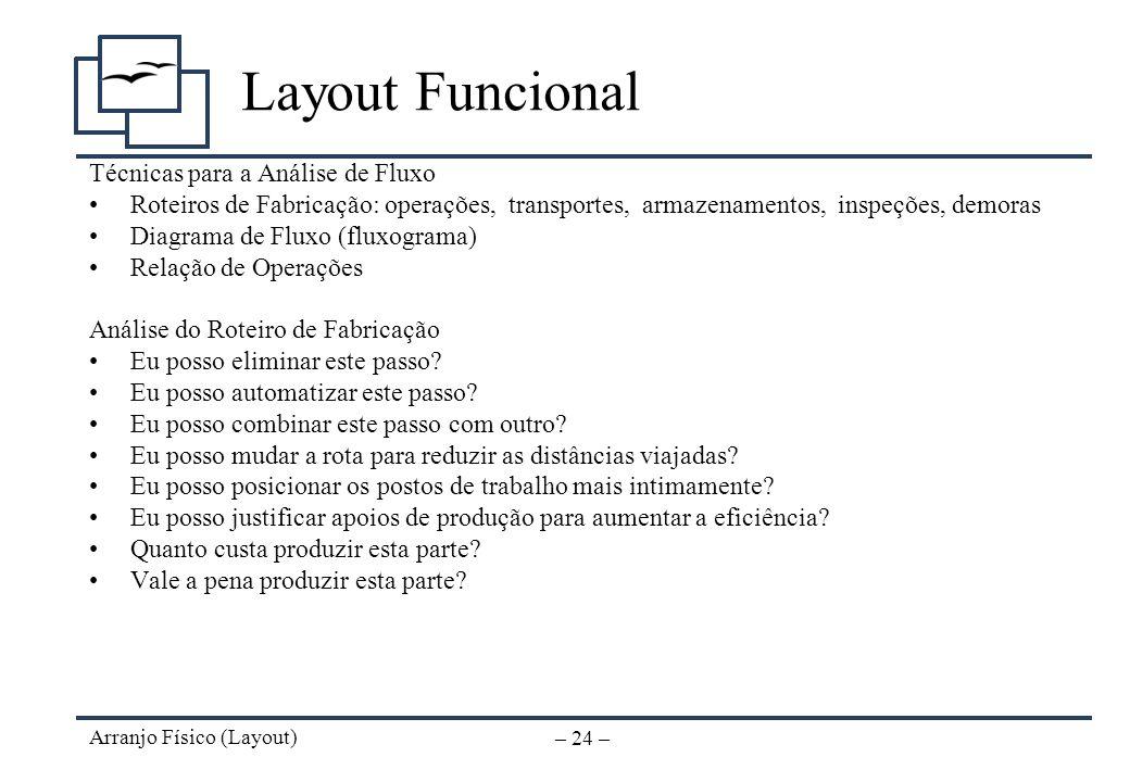 Layout Funcional Técnicas para a Análise de Fluxo