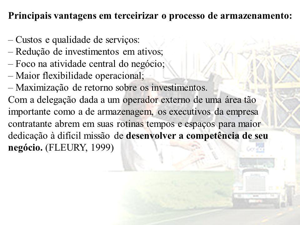 Principais vantagens em terceirizar o processo de armazenamento:
