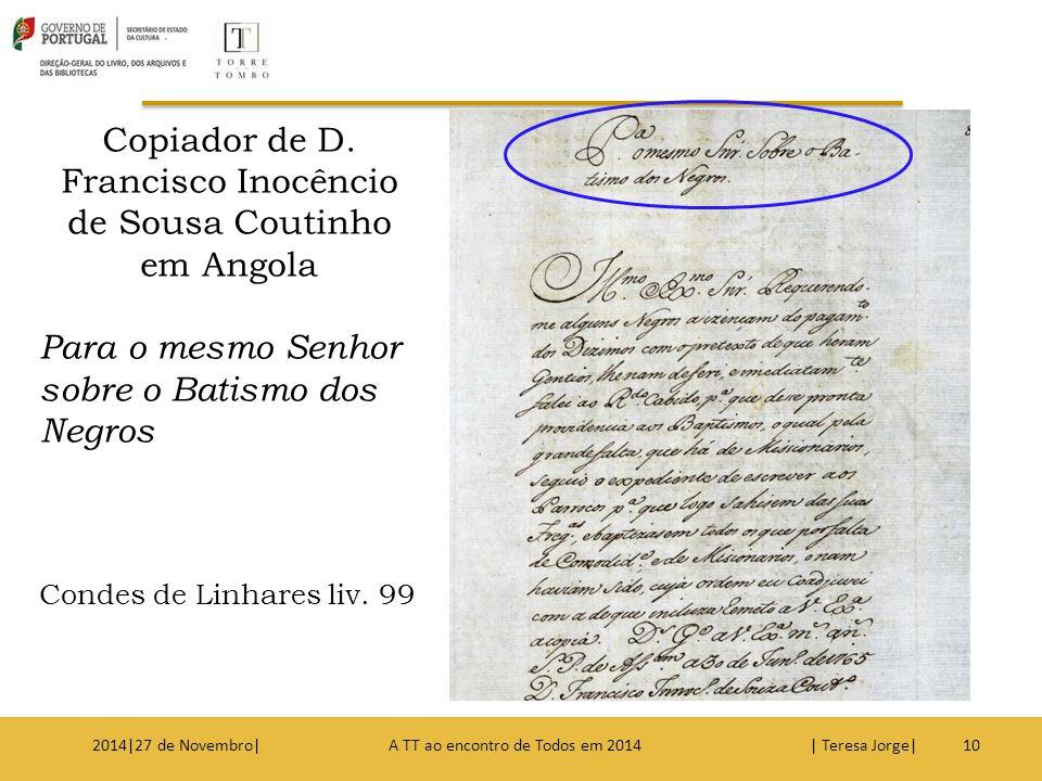 Copiador de D. Francisco Inocêncio de Sousa Coutinho em Angola
