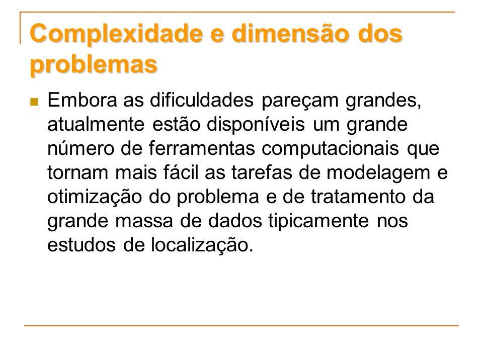 Complexidade e dimensão dos problemas