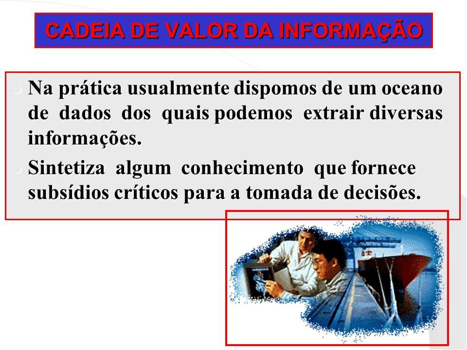 CADEIA DE VALOR DA INFORMAÇÃO