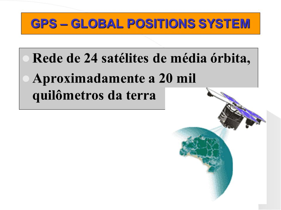 GPS – GLOBAL POSITIONS SYSTEM