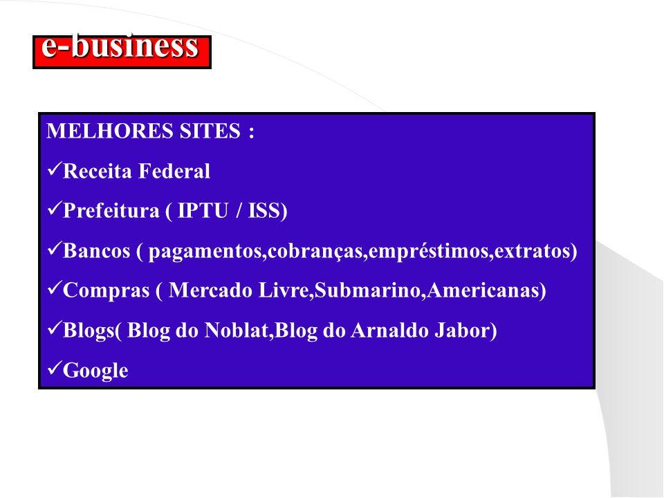 e-business MELHORES SITES : Receita Federal Prefeitura ( IPTU / ISS)