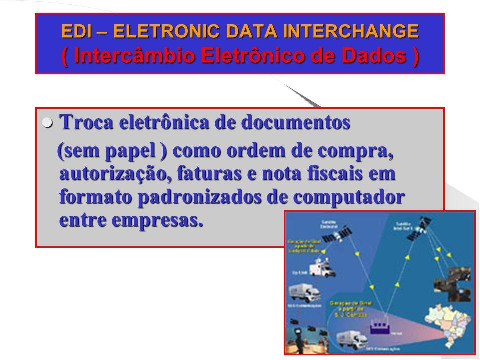 EDI – ELETRONIC DATA INTERCHANGE ( Intercâmbio Eletrônico de Dados )