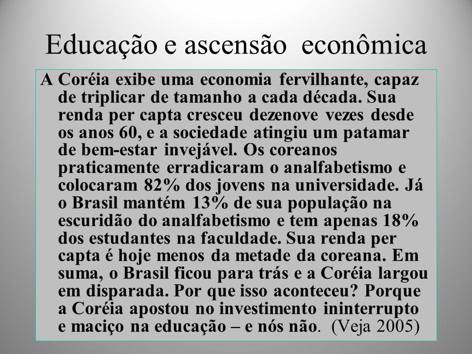 Educação e ascensão econômica