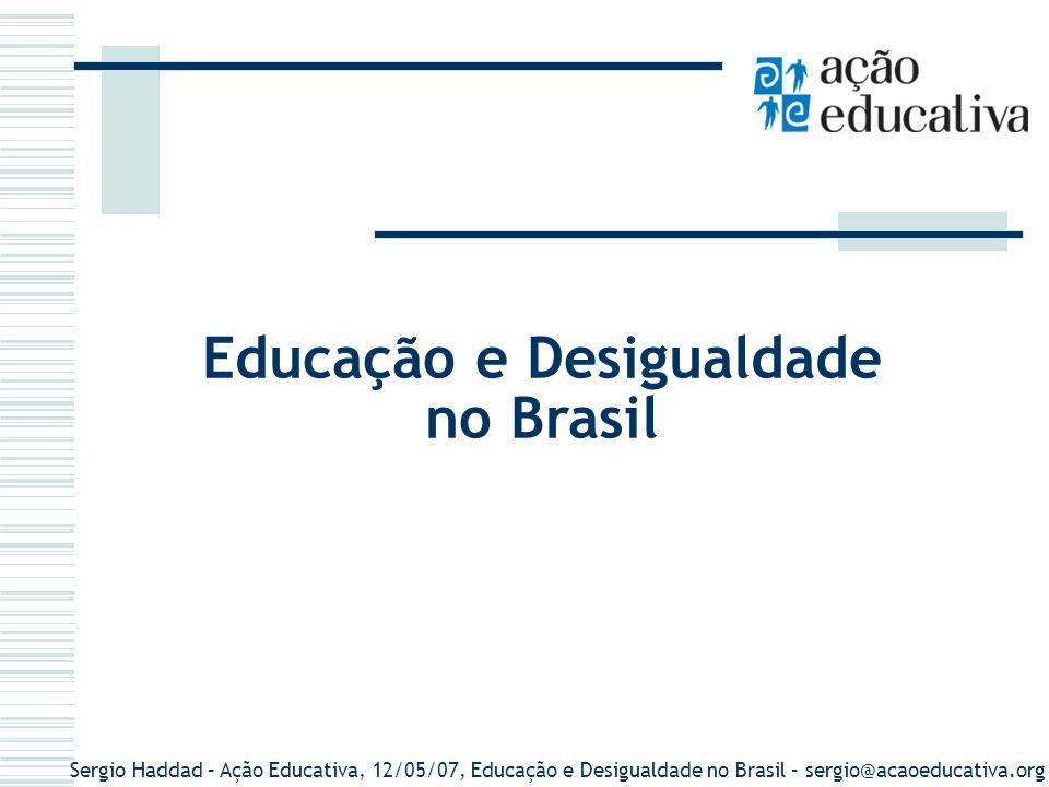 Educação e Desigualdade no Brasil