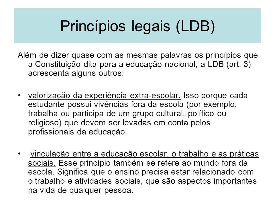 Princípios legais (LDB)