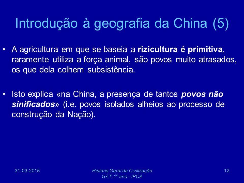 Introdução à geografia da China (5)