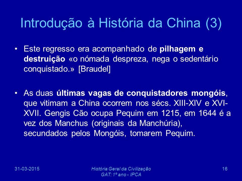 Introdução à História da China (3)