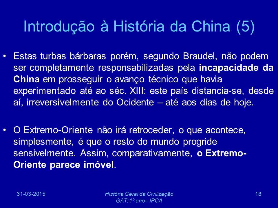 Introdução à História da China (5)