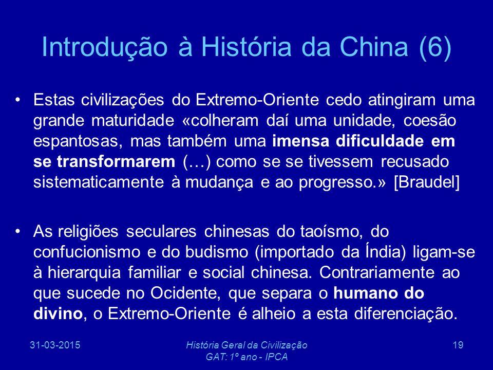 Introdução à História da China (6)