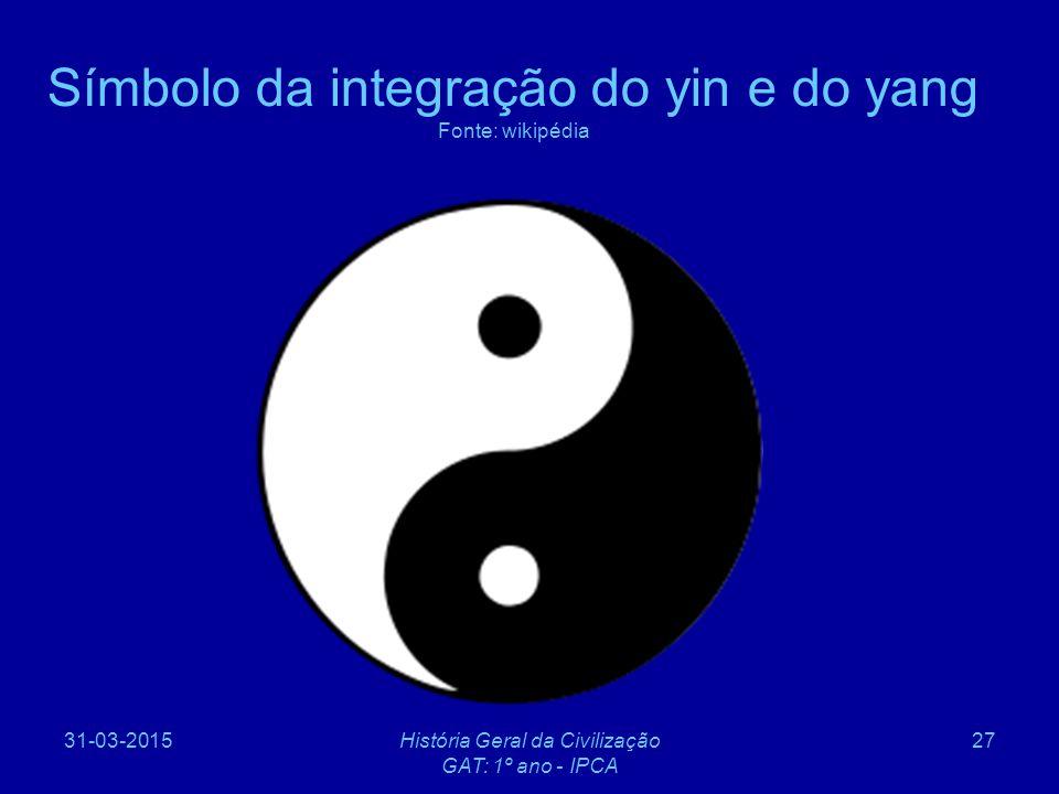 Símbolo da integração do yin e do yang Fonte: wikipédia