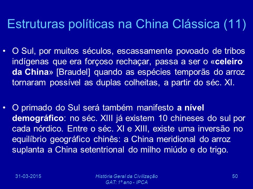 Estruturas políticas na China Clássica (11)