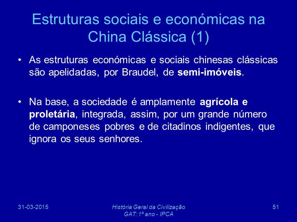 Estruturas sociais e económicas na China Clássica (1)