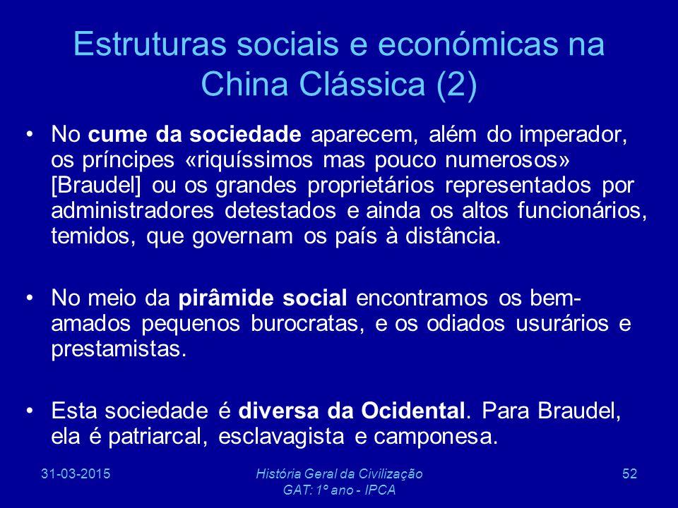 Estruturas sociais e económicas na China Clássica (2)