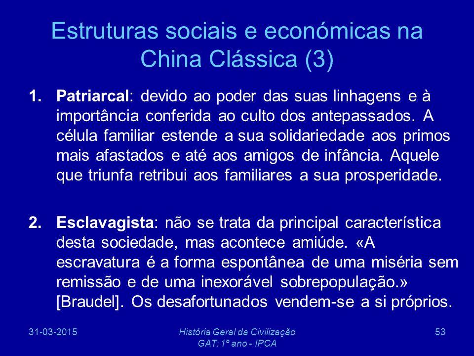 Estruturas sociais e económicas na China Clássica (3)