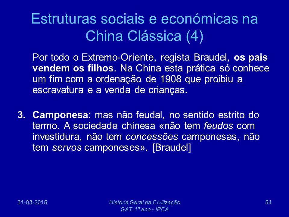 Estruturas sociais e económicas na China Clássica (4)