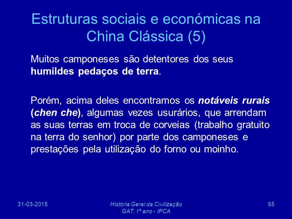 Estruturas sociais e económicas na China Clássica (5)