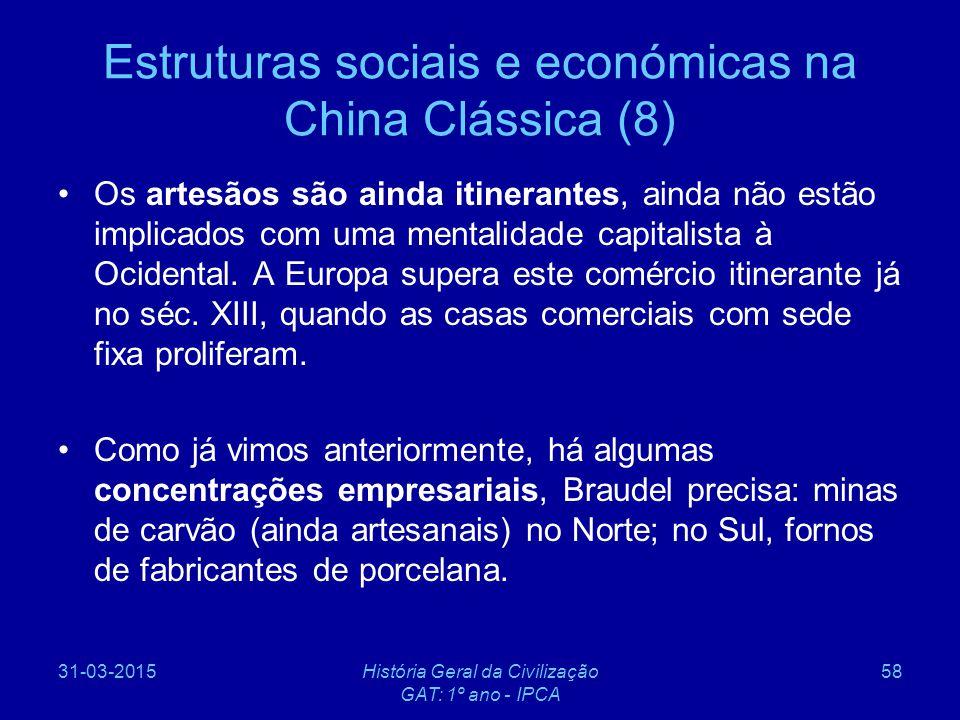 Estruturas sociais e económicas na China Clássica (8)