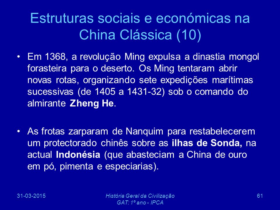 Estruturas sociais e económicas na China Clássica (10)