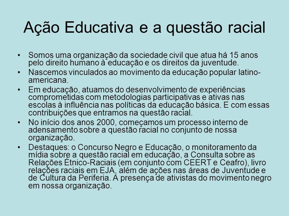 Ação Educativa e a questão racial