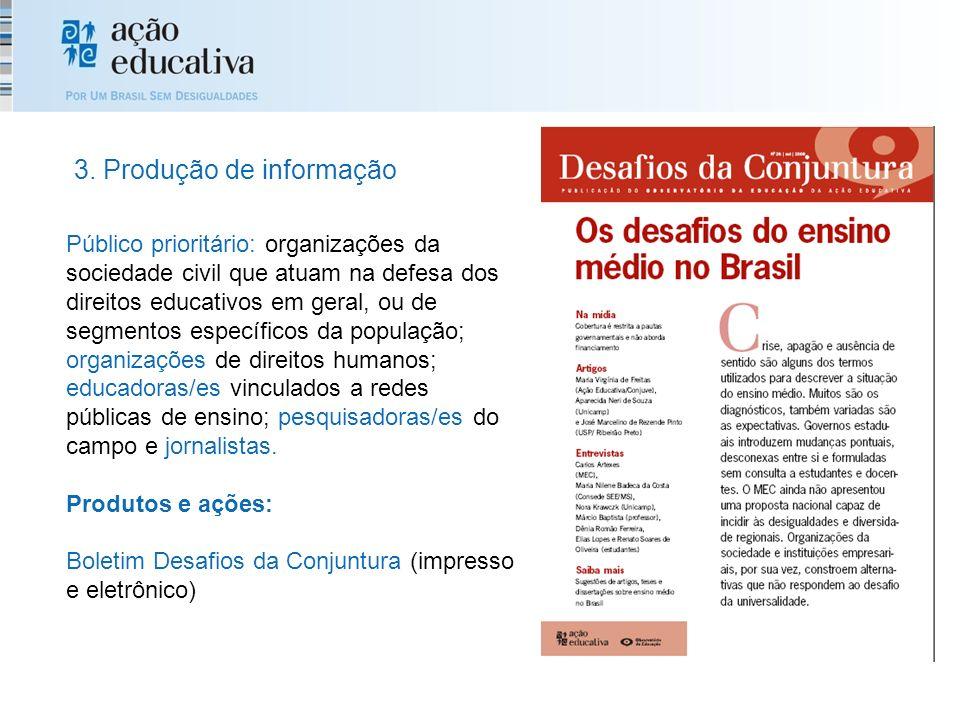 3. Produção de informação