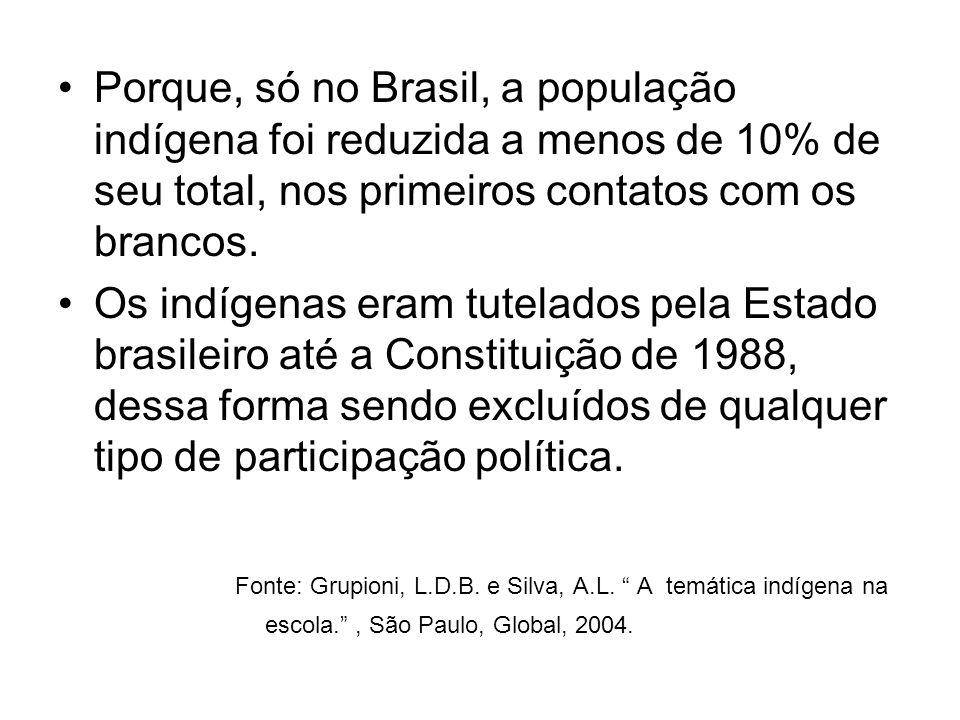 Fonte: Grupioni, L.D.B. e Silva, A.L. A temática indígena na