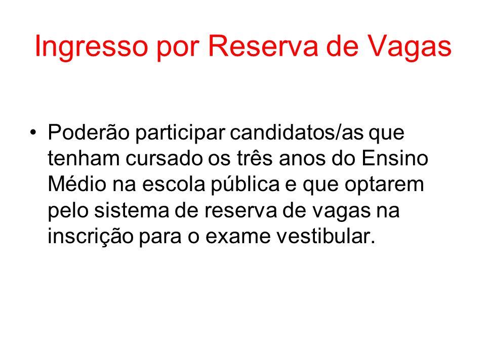 Ingresso por Reserva de Vagas