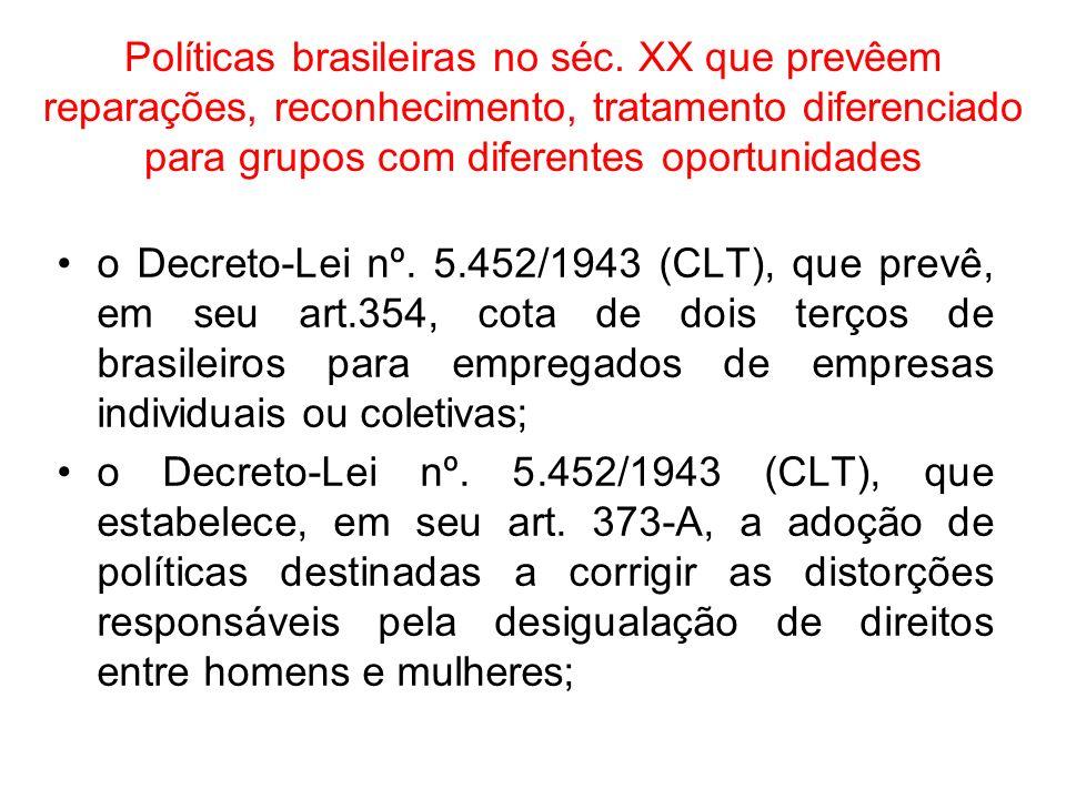 Políticas brasileiras no séc